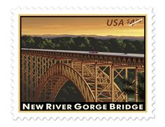 New River Gorge Bridge • part of the USPS collection • Designed by Carl T. Herrman • April 11, 2011