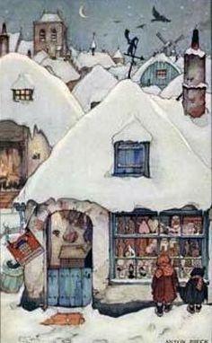 Anton Pieck - Find A Grave Memorial Anton Pieck, Photo D Art, Dutch Painters, Dutch Artists, Paintings I Love, Winter Art, Children's Book Illustration, Whimsical Art, Christmas Art