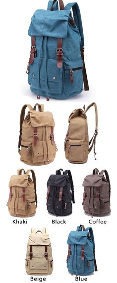Which color do you like? For travelling.#Retro #Large #Laptop #Rucksack #Travel…
