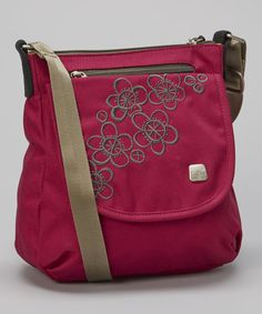 Take a look at this haiku Raspberry & Stone Green Jaunt Crossbody Bag on zulily today!