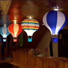 2 a hot air balloon paper lantern decoration pendant Lantern Festival party balloon paper lanterns from mail