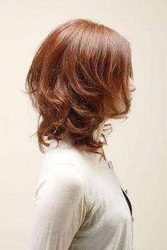 「 髪型 ミディアム レイヤー」の画像検索結果