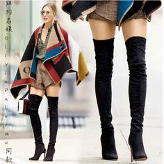 Thigh High Boots Size 12 Stretch Leather Thin High Heel Winter Over The Knee Boots Pointed Toe Oliviapalermo Shoe Free Shipping size chart: US4=CN35=225mm(bare feet length) US5=CN36=230mm(bare feet length) US6=CN37=235mm(bare feet length) US7=CN38=240mm(bare feet length) US8=CN39=245mm(bare feet length) US9=CN40=250mm(bare feet length) US10=CN41=255mm(bare feet length) US11=CN42=260mm(bare feet length) US12=CN43=265mm(bare feet length) The size of the shoes ...