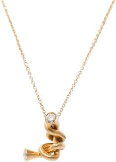 "Laura Bangert ""The Knot"" Diamond Necklace"