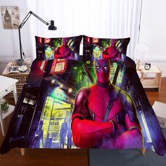 3D deadpool printed Bedding Set duvet cover set