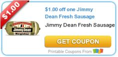 Tri Cities On A Dime: SAVE $1.00 ON JIMMY DEAN FRESH SAUSAGE