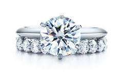DREAM RING. Tiffany's cut with engagement band.