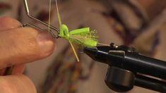 Fly Tying Instruction: Greg Cooke Ties the Chartreuse Foam Hopper Pattern