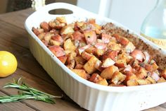 Lemon Rosemary Balsamic Potatoes-easy, healthy, and delicious! Makes a lot for leftovers too!