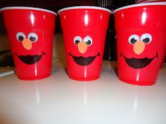 Solo cups Elmos! The Manke girls