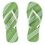 HAMbWG - Flip-Flop -  Green White Stripe Flip Flops #weddinginspiration #wedding #weddinginvitions #weddingideas #bride