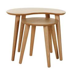 Skandi Oak Nest of Lamp Tables | Dunelm