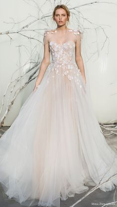 mira zwillinger bridal 2017 strapless sweetheart ball gown wedding dress (elsa) sheer cape mv