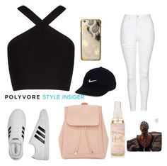 """Outfit for First Day of School"" by peachyneeld ❤ liked on Polyvore featuring BCBGMAXAZRIA, Topshop, adidas, New Look, Skinnydip, NIKE, contestentry and PVStyleInsiderContest"