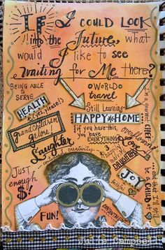 Julie Campbell- If I could look into the future...great idea for journaling