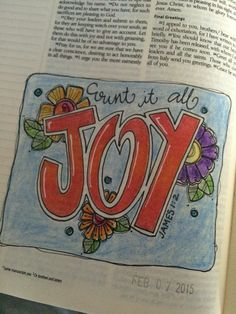 James 1:2 Joy Bible Journaling by Nola ✭★✭