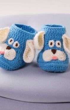 Puppy Crochet Booties Free Pattern