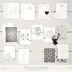 Image of hello gorgeous paper crafting kit Hello Gorgeous, Beautiful, Layout Inspiration, Journal Cards, Project Life, Gallery Wall, Diagram, Paper Crafts, Frame
