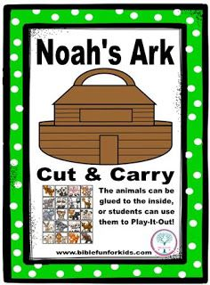 Bible Fun For Kids: Noah Preschool Projects. This site has more bible printable activities.