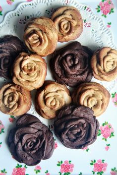 chocolate rose cookies.