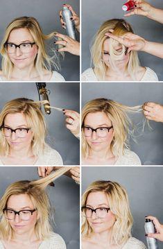 Wavy bob tutorial for fine hair