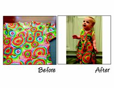 Salvation Army Repurposing Contest | Scrubs to Baby's Kimono Dress