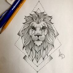 Lion Drawing Awesome Pinte