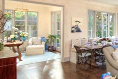 Pebble Beach Sun Room-Office and Great Room Banquette