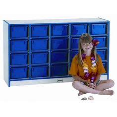 Jonti-Craft Mobile 20 Compartment Cubby Size: 20 Compartments, Trim Color: Green, Trays: With Trays