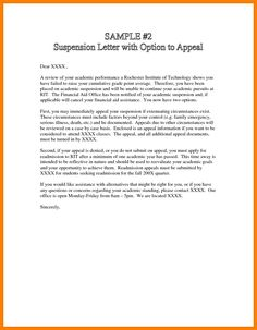 Financial Aid Reinstatement Appeal Letter Sample from i.pinimg.com