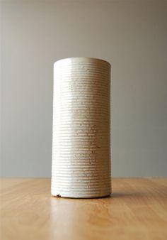 Vintage Zanesville Stoneage Modern White Vase by DipperVintage on Etsy