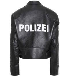Vetements - Appliqué leather jacket | mytheresa.com