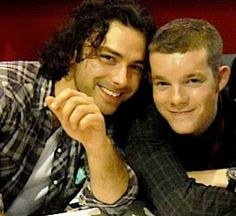 """Mitchell and George, """"Being Human"""" (Aidan Turner and Russell Tovey)"""