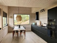 Plywood Interior, Pine Plywood, Interior Styling, Interior Design, Cabin Interiors, Wooden House, Cabins In The Woods, Scandinavian Interior, Kitchen Dining