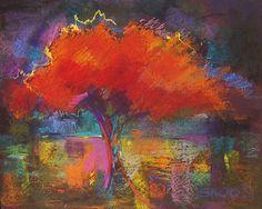 Firefall by Joan Skogsberg Sanders: Giclee Print - STUDIO SALE available at www.artfulhome.com