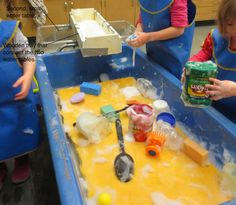 A Giant Sponge is simply a big piece of foam cut to the dimensions of the water table