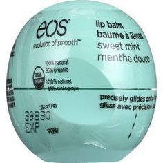 EOS Products Lip Balm Organic Smooth Sphere Sweet Mint .25 oz case of 8