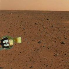 Cool!  The second photo from the Mars lander Curiosity! #Curiousity