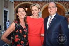 Royals & Fashion - Prince Albert and Princess Charlene hosted a reception in honor of the Monaco Grand Prix was held at the Prince's Palace.