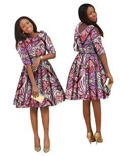 Look what I found on AliExpress African Print Fashion, African Prints, Fashion Prints, African Wear, African Dress, Batik Dress, Ankara Dress, Ladies Party, Lovely Dresses