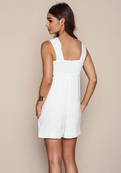 Ivory Mod Boxy Bandeau Romper - Jumpsuits & Rompers - Clothes
