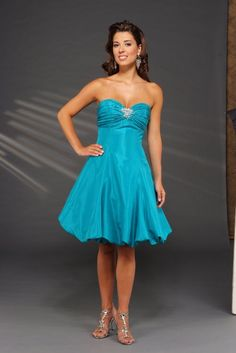 light blue cocktail gown, for a military ball at some point