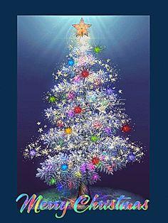 Animated Christmas Tree, Christmas Scenery, Merry Christmas Quotes, Christmas Wishes, Merry Xmas, Christmas Art, Christmas Greetings, Beautiful Christmas, Merry Christmas Animation