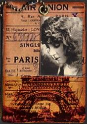Gillian Allen, UK, Artists Trading Cards. Idea for LOVE is everywhere. Art-e-zine is pleased to host its first ATC swap, 3 big pages of Artist Trading Cards is the amazing response to this exciting art collecting phenomena. Ranging from the accomplished to the beginner. Once you start collecting, your hooked. Look at her page, it's amazing!!