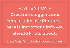 A great resource for Pinterest users to know about pinning correctly so the author gets credit
