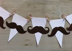 Mustache garland Baby Shower/birthday banner by papermeblossom Little Man Party, Little Man Birthday, Birthday For Him, Baby Birthday, Birthday Ideas, Moustache Party, Mustache Birthday, Fathers Day Crafts, Happy Fathers Day
