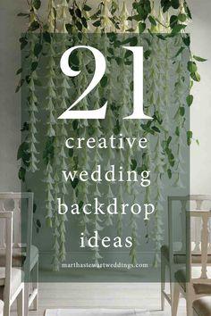 21 Creative Wedding Backdrop Ideas | Martha Stewart Weddings