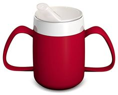 From 8.95 Ornamin 815 / 806 Two Handled Mug With Internal Cone 140 Ml Red With Spouted Lid With Small Opening