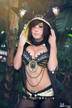 Jessica Nigri Fan Page's Umbreon #cosplay (Pokemon)