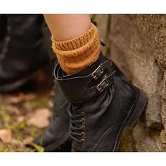 Ecote Buckled Ankle-Cuff Combat Boot- Black from Urban Outfitters. Saved to clothes . Sock Shoes, Cute Shoes, Me Too Shoes, Shoe Boots, Ankle Boots, Women's Shoes, Awesome Shoes, Harry Potter, Brad Pitt